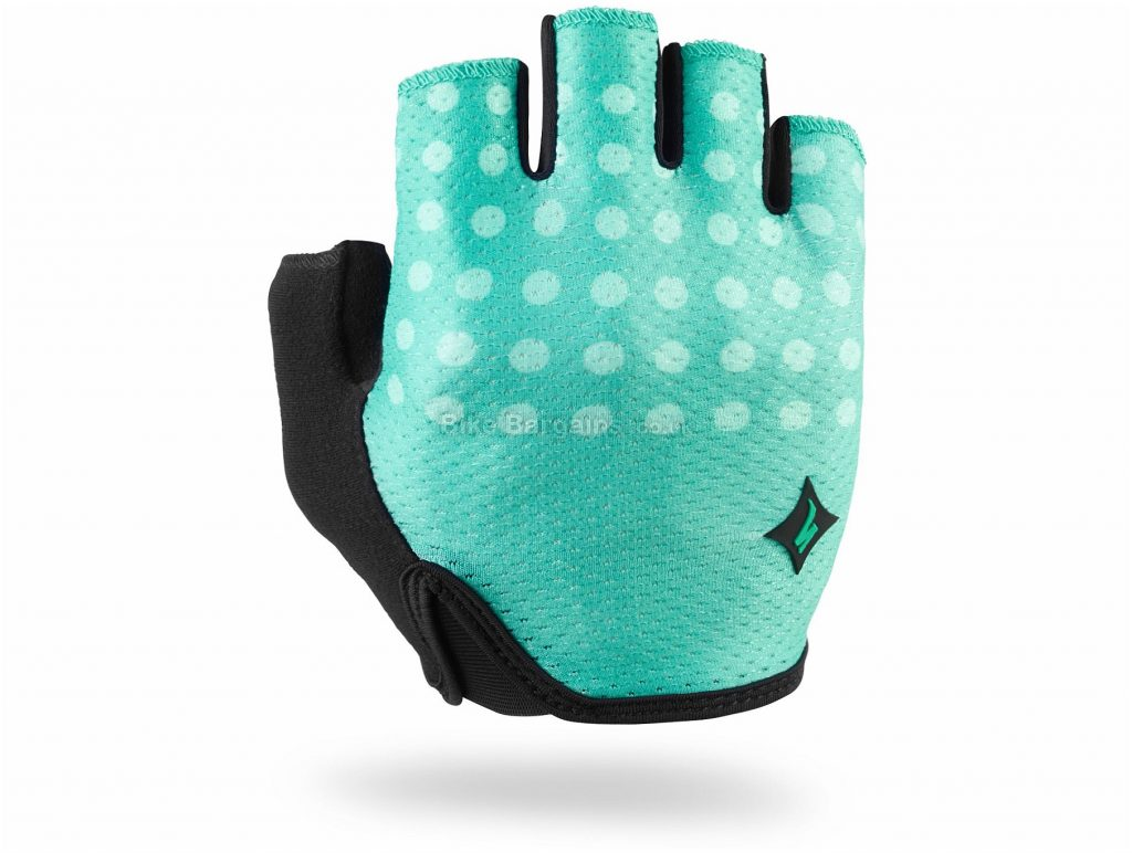 Specialized Ladies Body Geometry Grail Short Finger Mitts L, Green, Black, Mitts