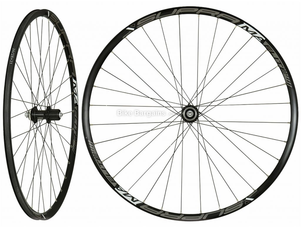 "Supra MA Elite M8000 27.5"" MTB Wheels 27.5"", Black, Alloy, Disc, XT Hubs, Centrelock, 10,11 speed, pair"