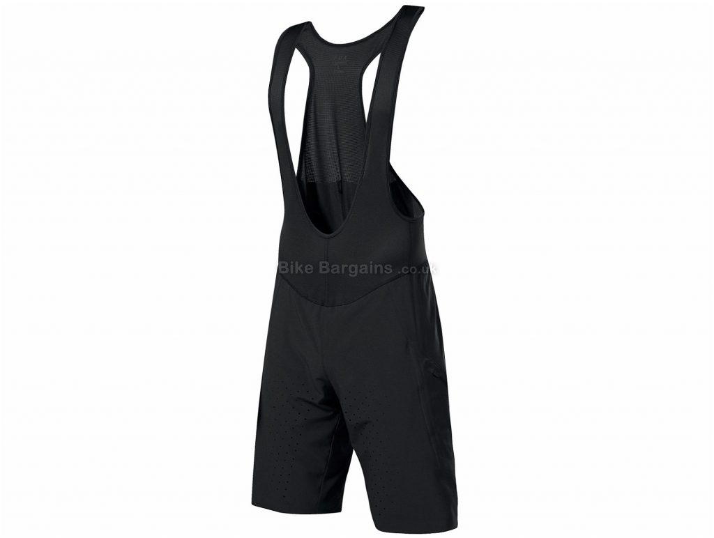 Fox Clothing Livewire Fuze Baggy Bib Shorts M, Black