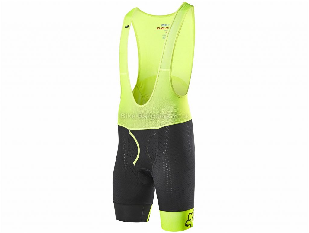 Fox Racing Evolution Pro Bib Shorts 2019 S, Black, Yellow