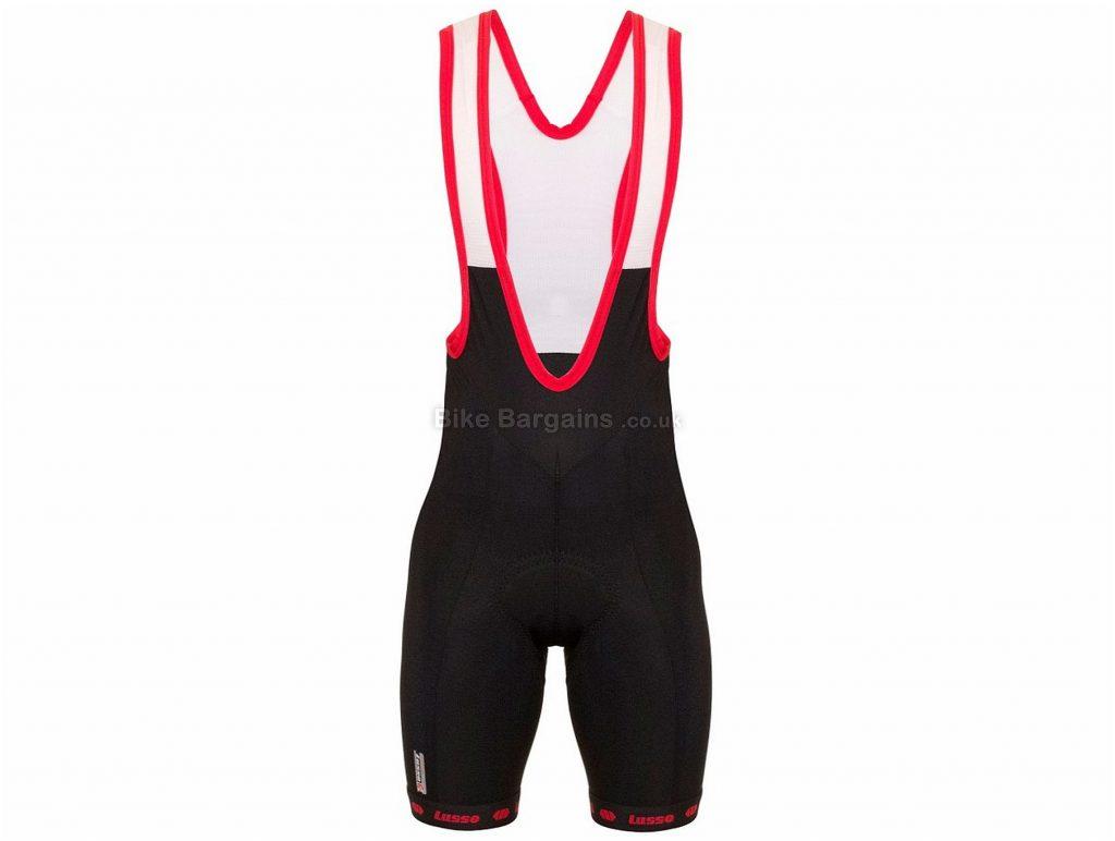 Lusso Aero 50 Bib Shorts L, Black, Red