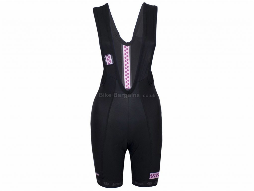 Lusso Layla Cooltech Ladies Bib Shorts L, Black