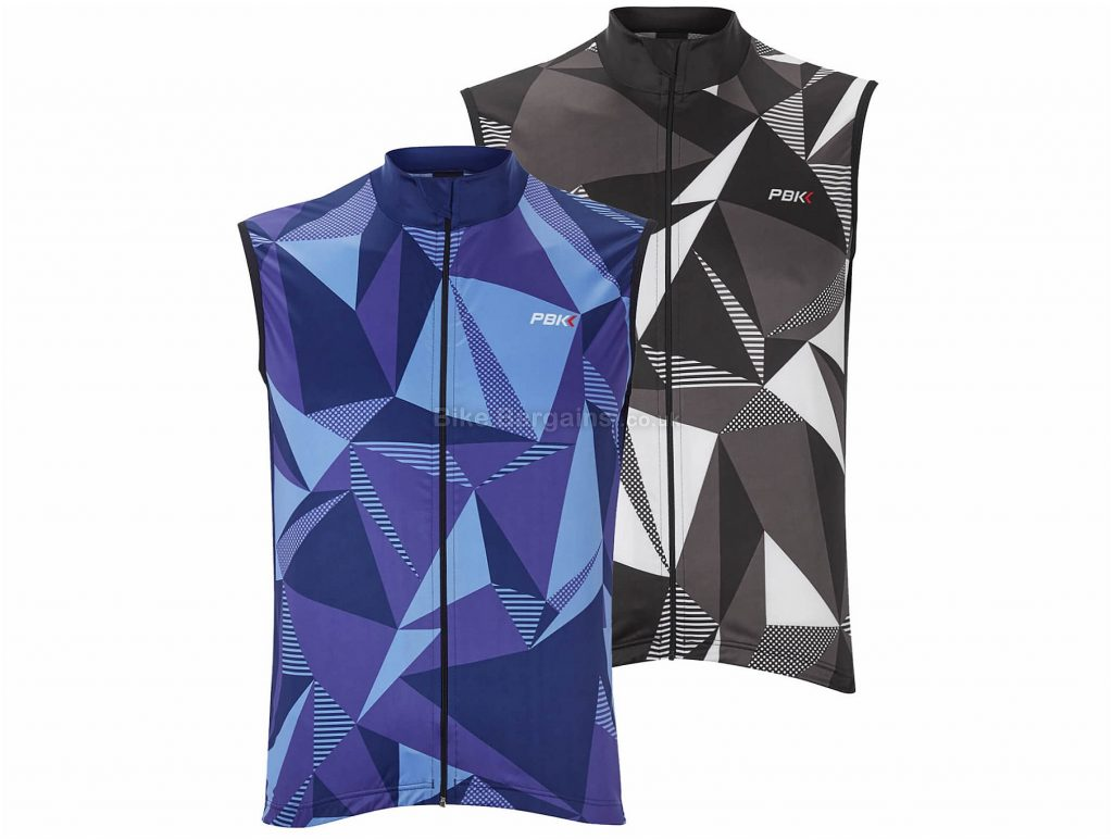 PBK Poligo Gilet L, Purple, Blue, Black, Grey