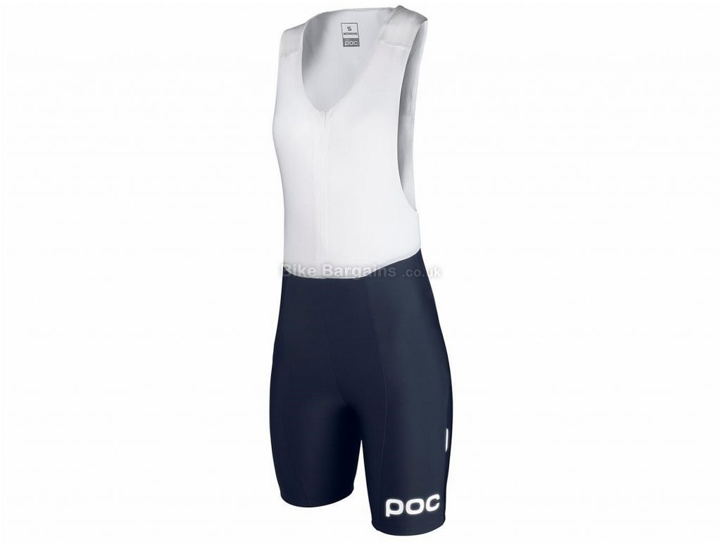 POC Ladies Multi D Bib Shorts XL, Blue, White