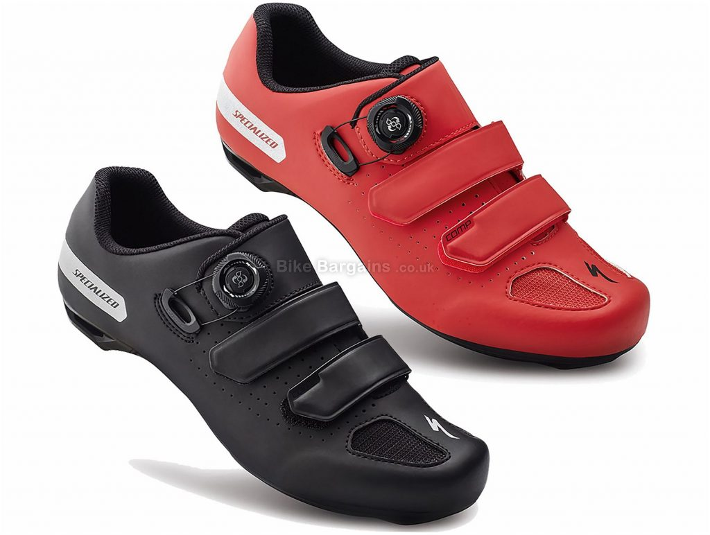 Specialized Comp Road Shoes 2018 40, Red, Black, Nylon, Boa, Velcro