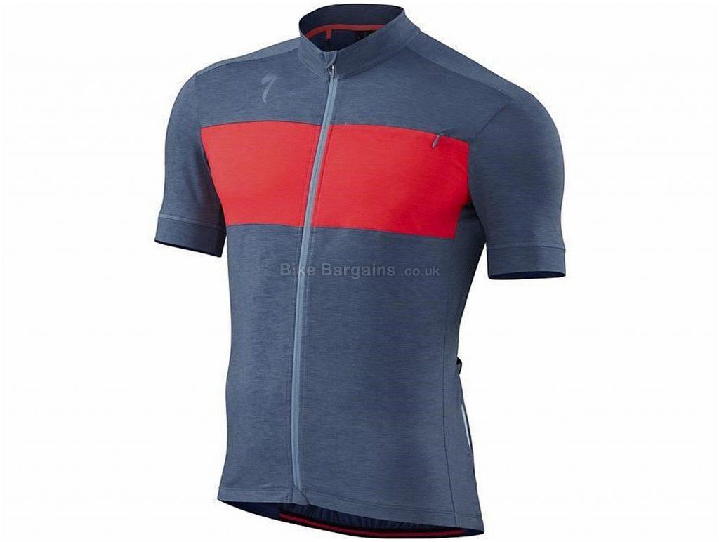 Specialized RBX Drirelease Merino Short Sleeve Jersey XL, Blue, Grey, Short Sleeve