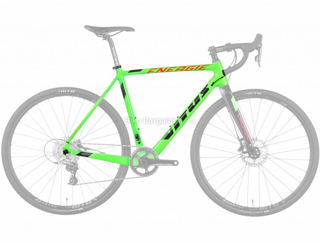 Vitus Energie Pro Carbon Cyclocross Frame 2016 52cm, Green, Disc, 700c, Carbon