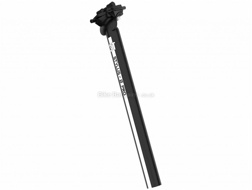3T Stylus 0 Pro Inline Alloy Seatpost 2014 280mm, 31.6mm, Alloy, Black, White, 225g