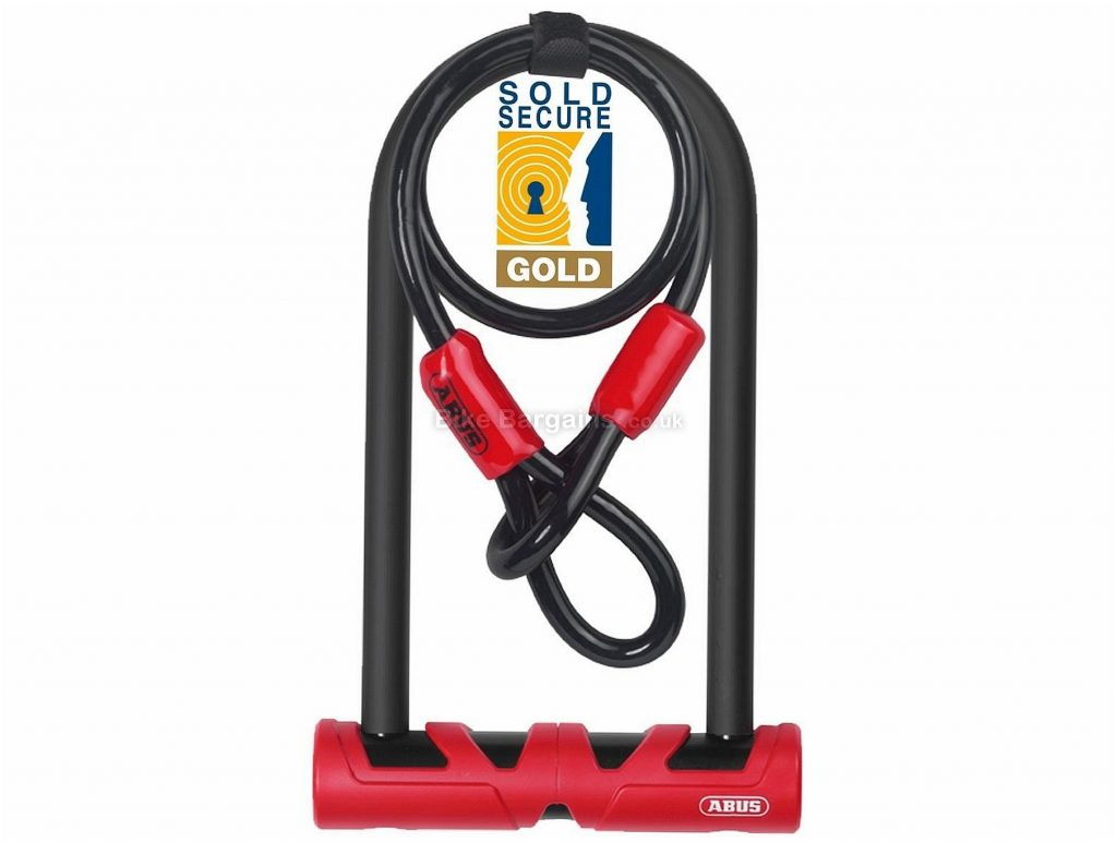 Abus Ultimate 420 D-Lock and Cable Pack 230mm, 14mm, Black, Red