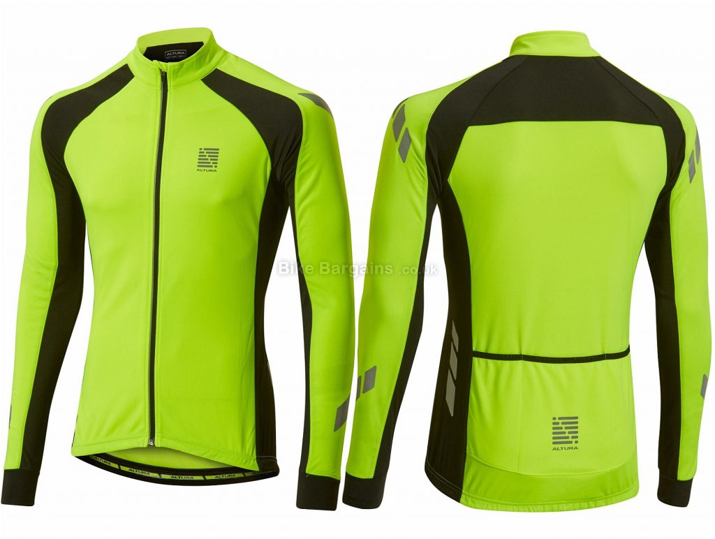 Altura Night Vision Kinetic Long Sleeve Jersey L, Yellow, Black