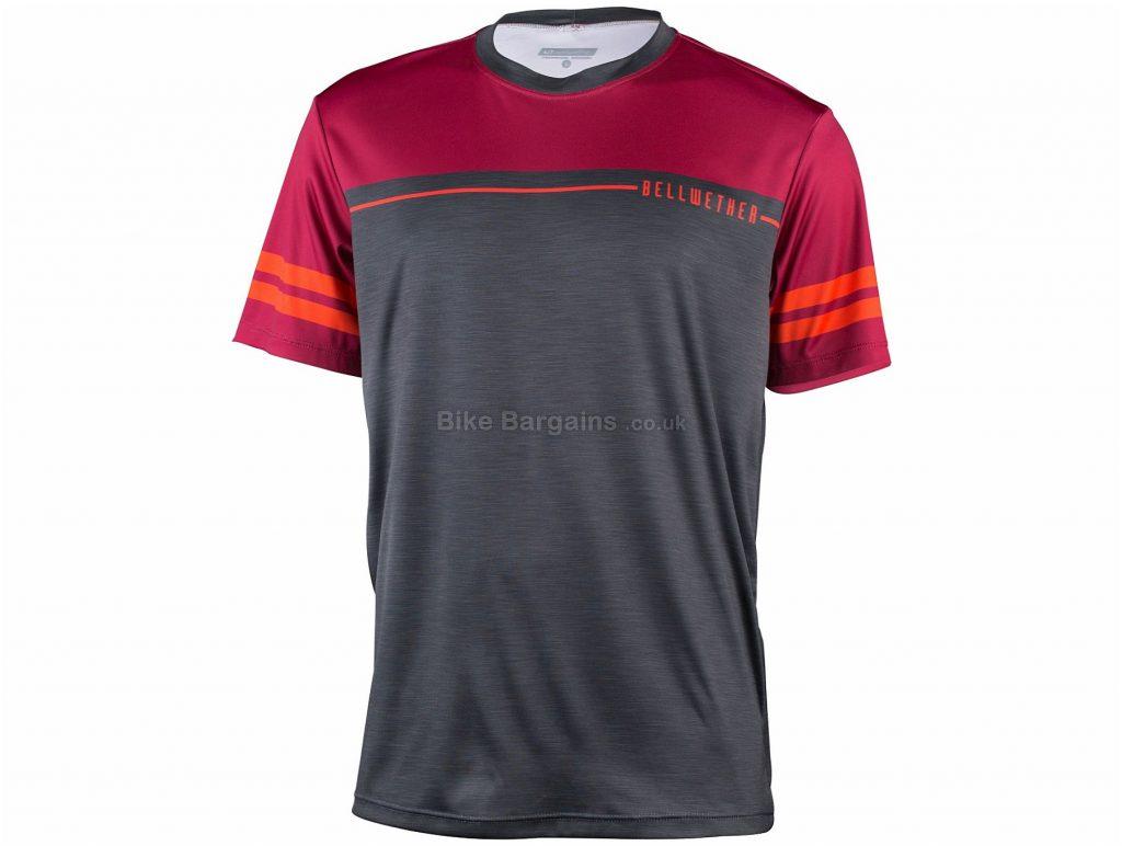 Bellwether Backbone Short Sleeve Jersey 2017 XL, Grey, Red, Short Sleeve