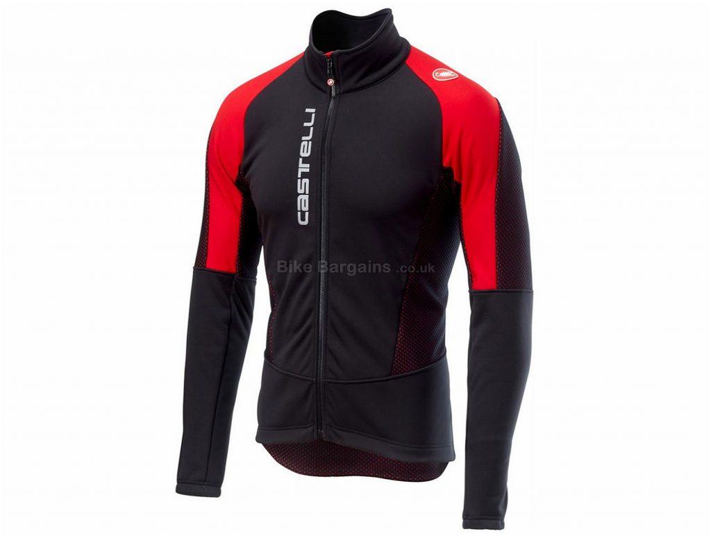 Castelli Mortirolo V Cycling Jacket 2018 S,M, Black, Red, Grey, Yellow, Blue, Long Sleeve, 439g