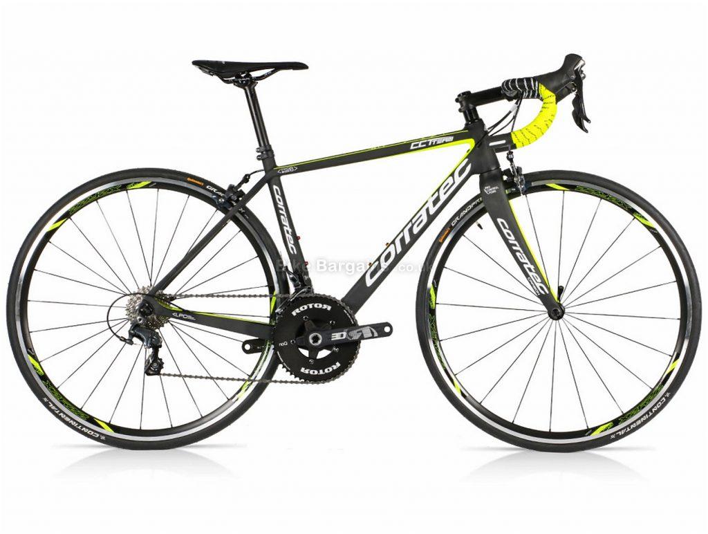 Corratec CCT Team Ultegra Mix Carbon Road Bike 2018 46cm, Black, Yellow, Carbon, 22 Speed, Calipers