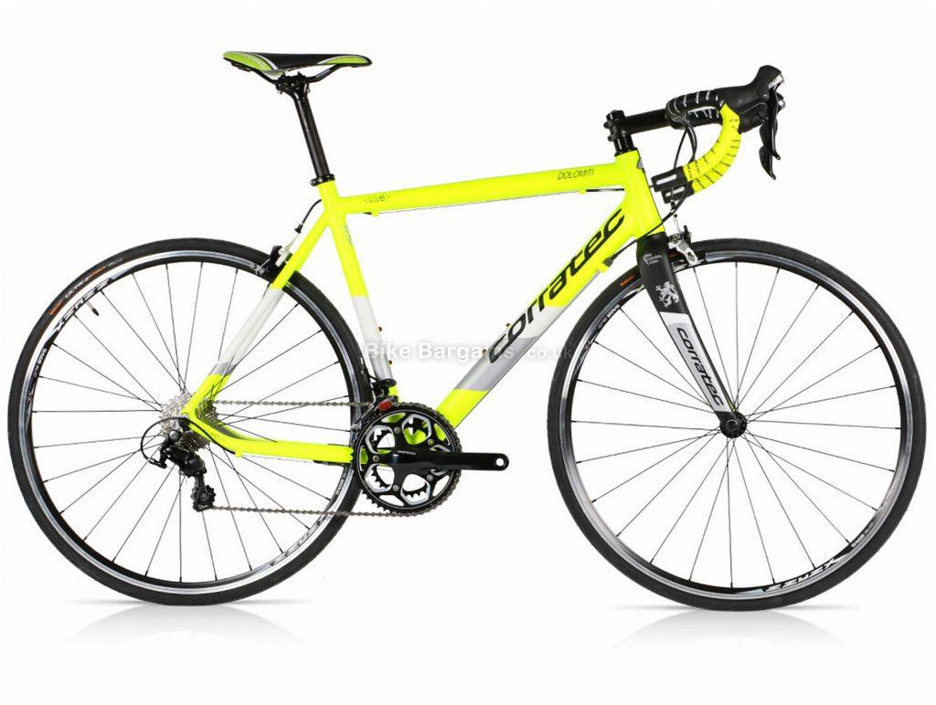 Corratec Dolomiti 105 Mix Alloy Road Bike 2018 54cm, Yellow, White, Alloy, 22 Speed, Calipers