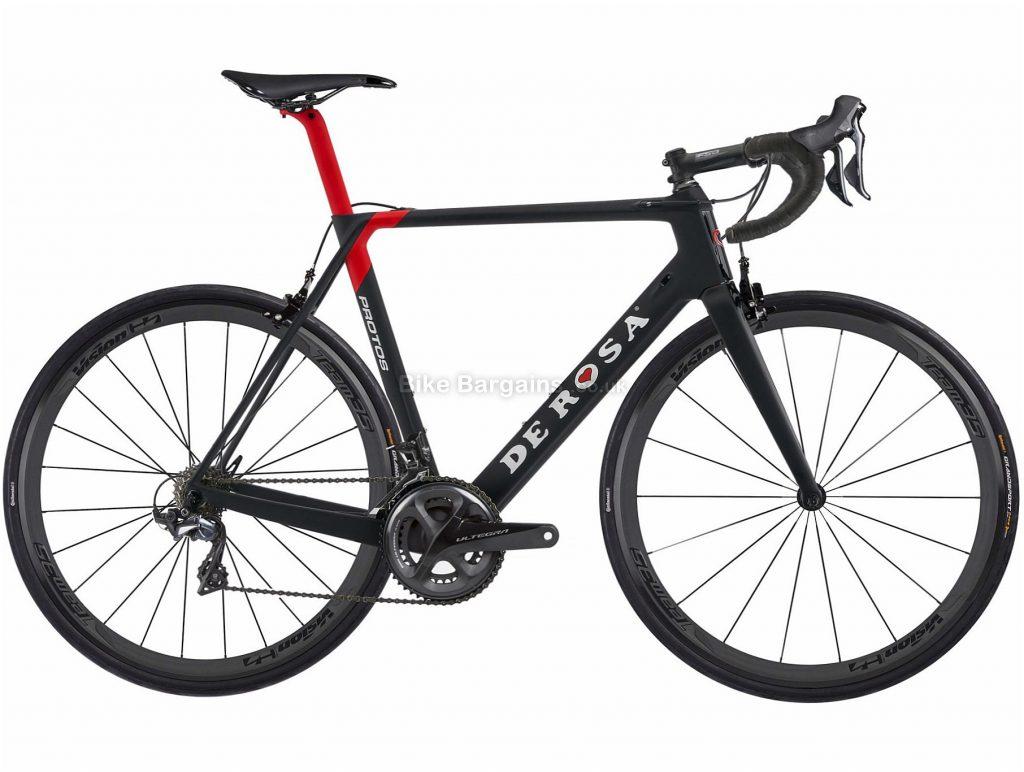 De Rosa Protos 8000 Team35 Carbon Road Bike 2018 57cm, Black, White, Carbon, 22 Speed, Calipers