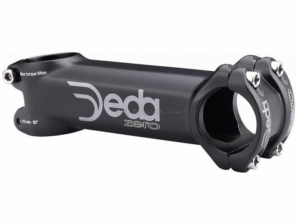Deda Elementi Zero Alloy Road Stem Black, Alloy, 130mm, 31.8mm