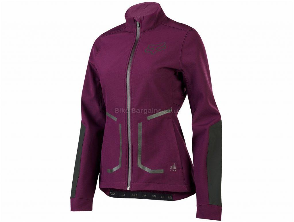 Fox Clothing Ladies Attack Fire Softshell Jacket S,L, Purple
