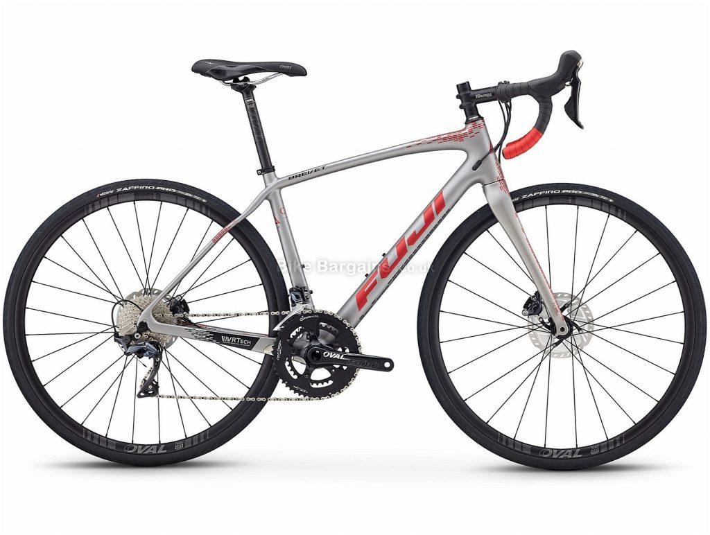 Fuji Brevet 1.3 Ladies Disc Carbon Road Bike 2019 44cm, Silver, Carbon, 22 Speed, Disc