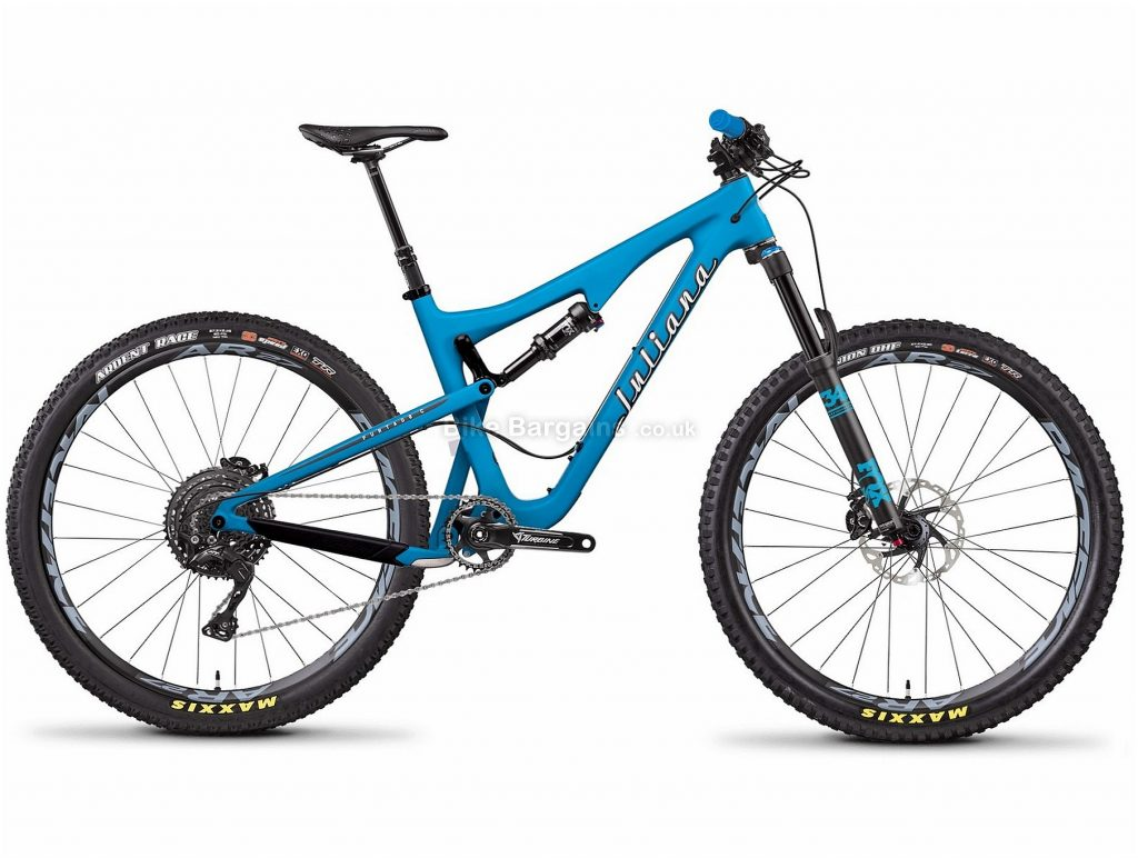 "Juliana Furtado C XE 27.5 Ladies Carbon Full Suspension Mountain Bike 2018 M, Blue, 27.5"", Carbon, 11 speed, Full Suspension"