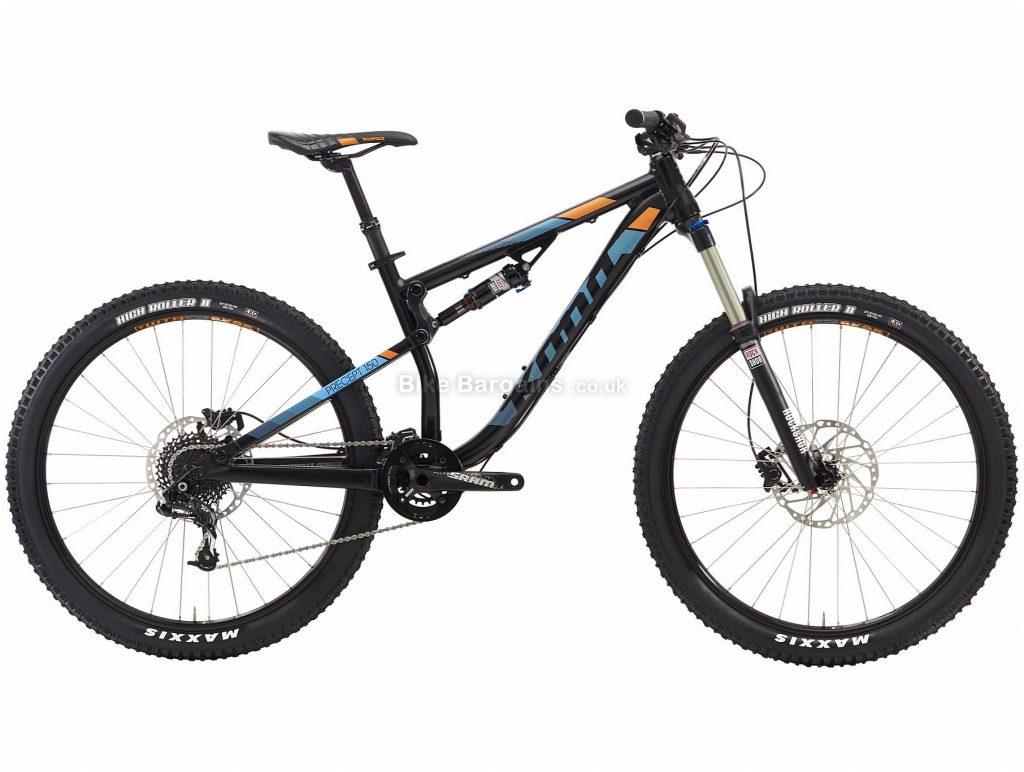 "Kona Precept 150 27.5 Alloy Full Suspension Mountain Bike 2016 S, Black, 27.5"", Alloy, 20 speed, Full Suspension"