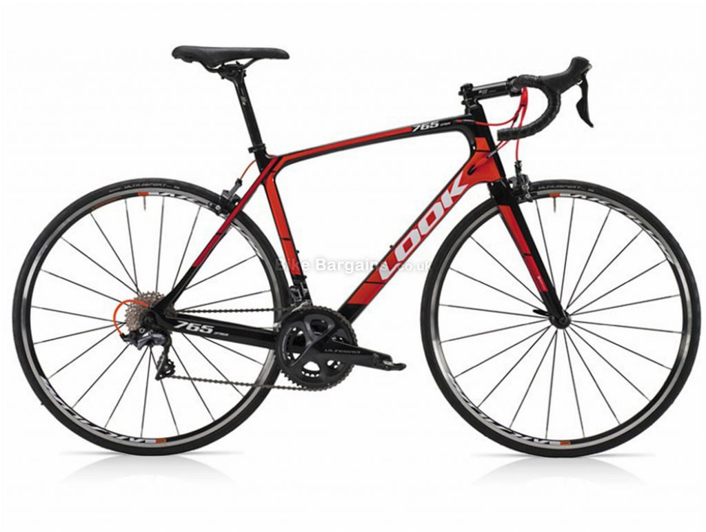 Look 765 Optimum Ultegra Carbon Road Bike S, Black, Red, Carbon, 22 Speed, Calipers