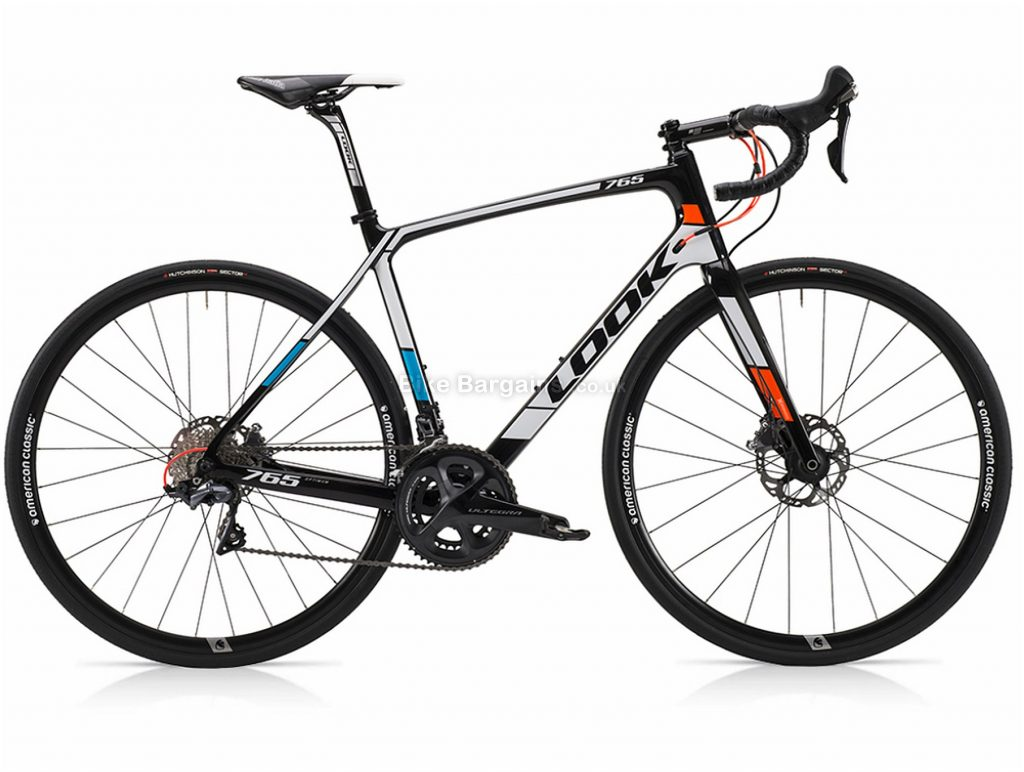 Look 765 Optimum Ultegra Disc Carbon Road Bike M, Red, Blue, Carbon, 22 Speed, Disc