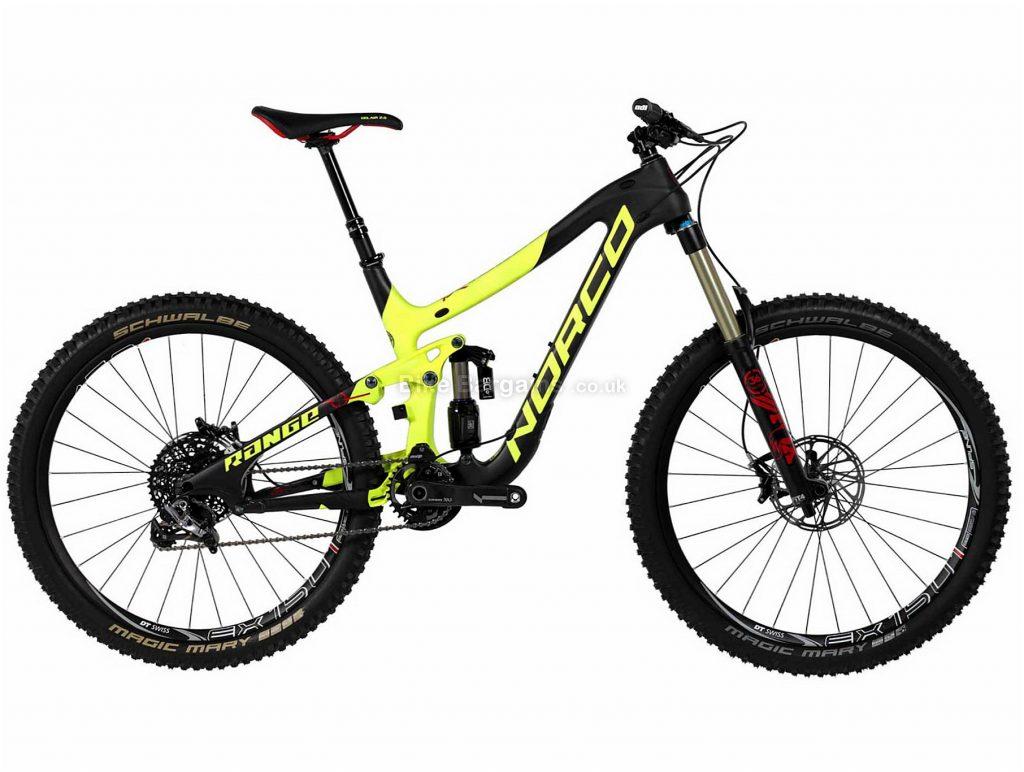 "Norco Range C7.1 27.5 Carbon Full Suspension Mountain Bike 2016 S, Black, Yellow, 27.5"", Carbon, 11 speed, Full Suspension, 13.6kg"