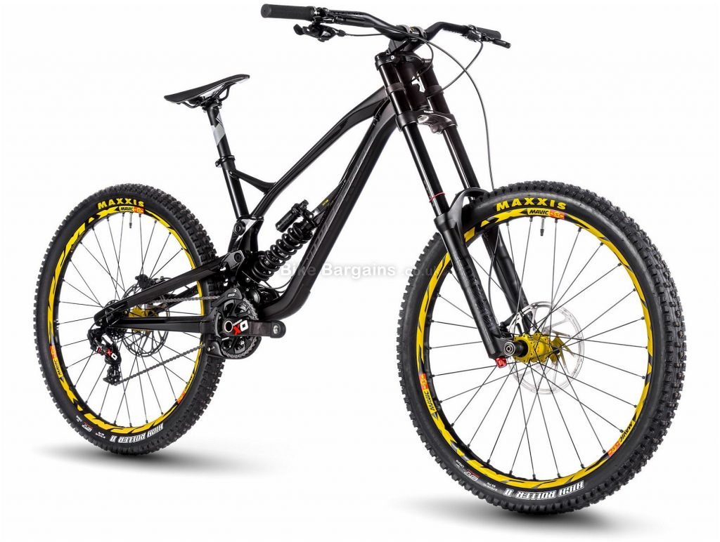 "Nukeproof Pulse RS DH 27.5 Alloy Full Suspension Mountain Bike 2018 S, Black, Grey, 27.5"", Alloy, 7 speed, Full Suspension"