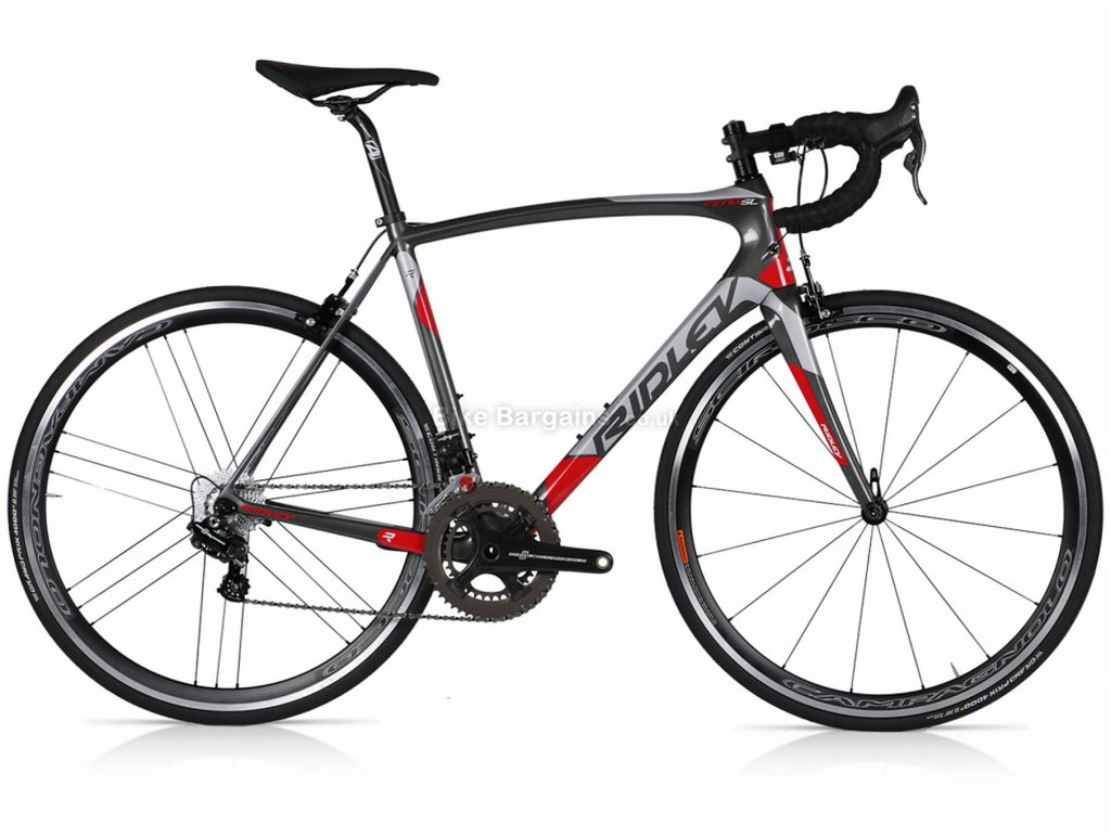 Ridley Fenix SL Chorus EPS Carbon Road Bike L, Grey, Red, Carbon, 22 Speed, Calipers