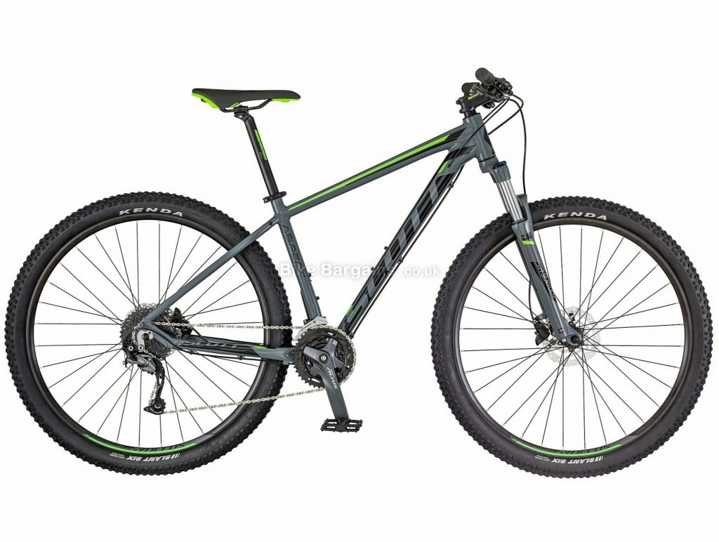 "Scott Aspect 740 27.5 Alloy Hardtail Mountain Bike 2018 M,L,XL, Grey, Green, 27.5"", Alloy, 27 speed, Hardtail, 14.3kg"