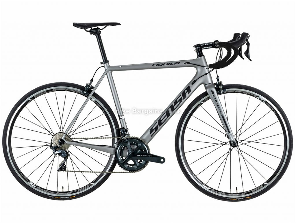 Sensa Aquila Ultegra Carbon Road Bike 2018 55cm, Grey, Carbon, 22 Speed, Calipers