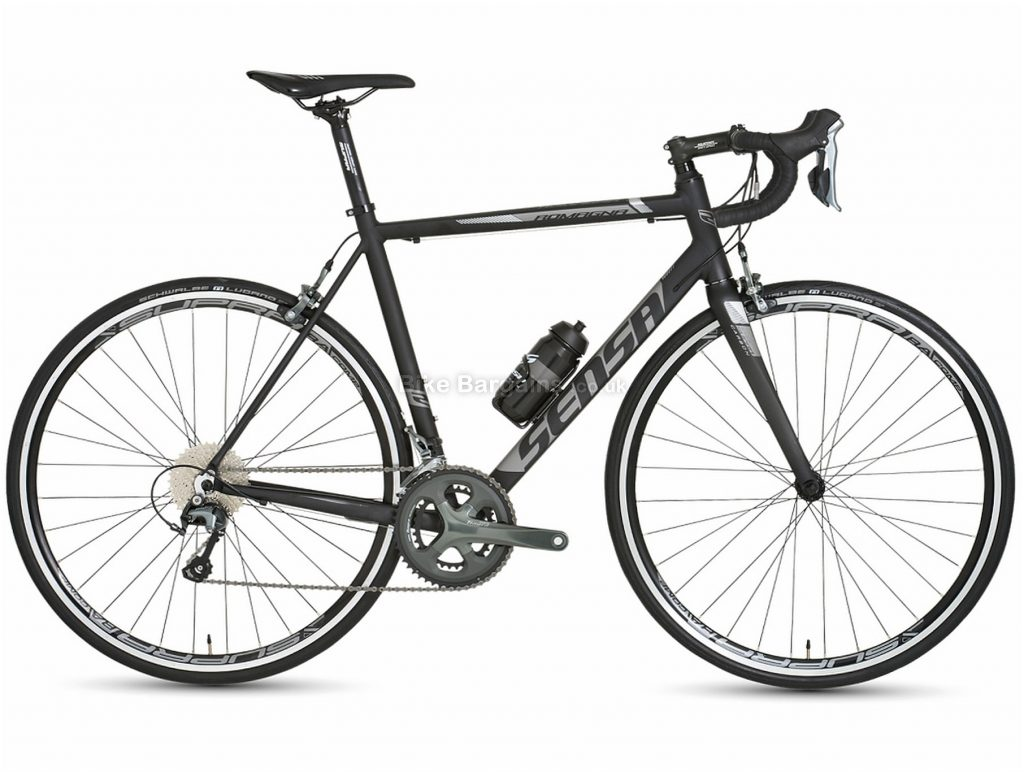 Sensa Romagna Tiagra Alloy Road Bike 2018 58cm, Black, Grey, Alloy, 20 Speed, Calipers
