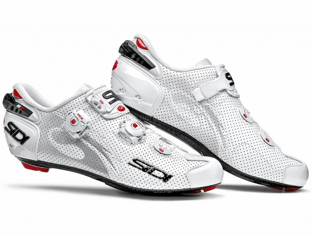 Sidi Wire Carbon Air Vernice Road Shoes 38, White, Carbon, Boa
