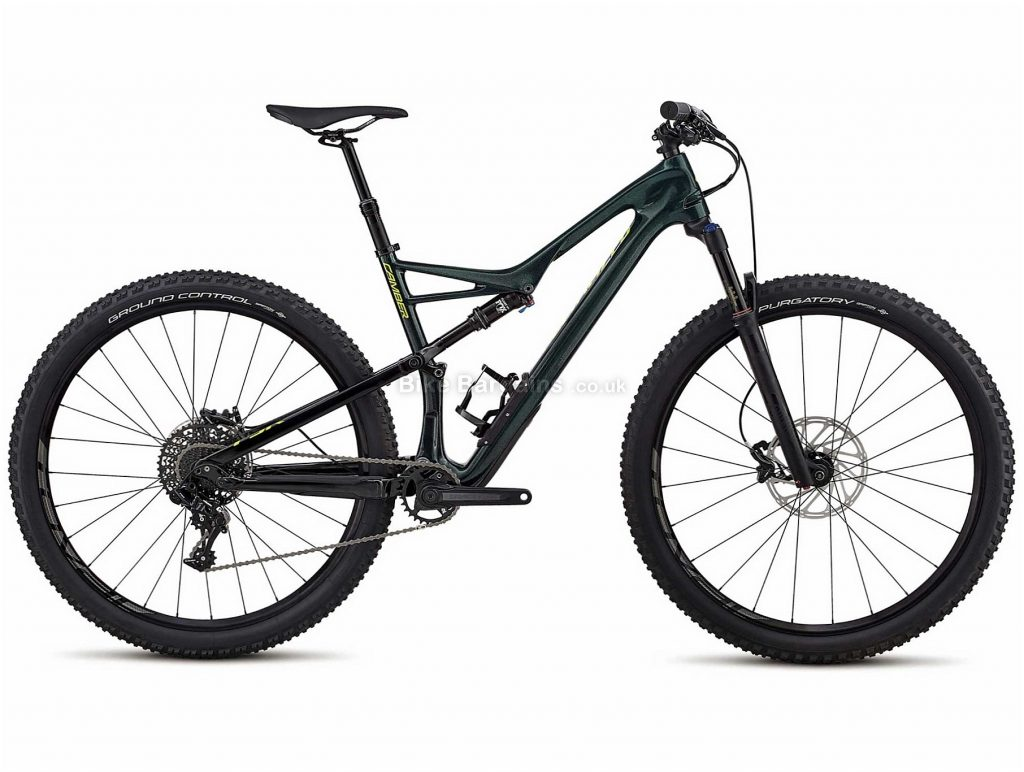 """Specialized Camber FSR Comp 29 Carbon Full Suspension Mountain Bike 2018 S, Green, 29"""", Carbon, 11 speed, Full Suspension"""