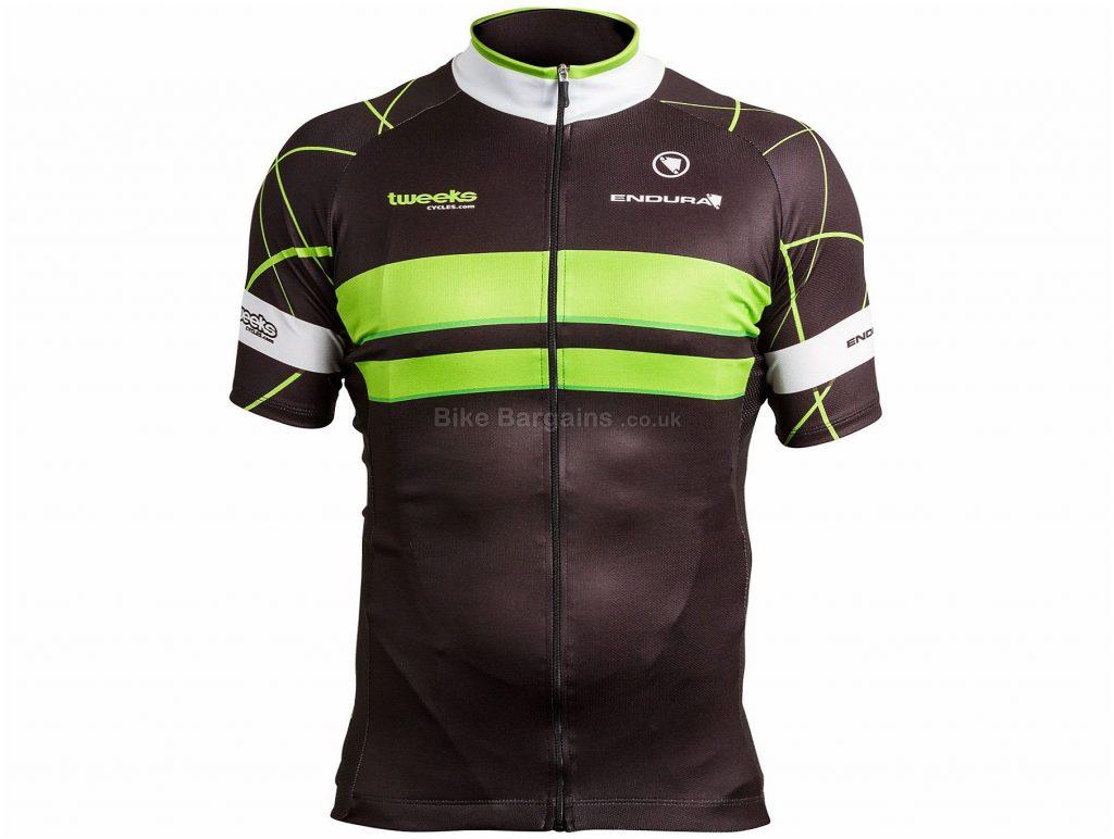 Endura Tweeks Cycles Premium Short Sleeve Jersey M, Black, Green