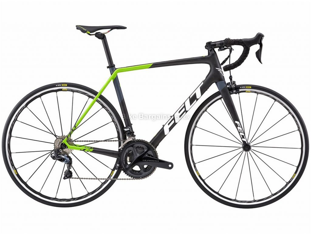Felt FR2 Di2 Carbon Road Bike 2018 47cm, 51cm, 54cm, 56cm, 58cm, Black, Green, 22 Speed, Calipers, Carbon