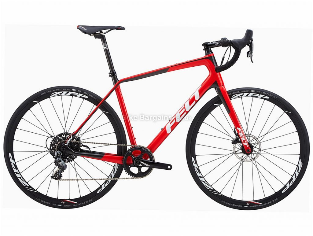Felt VR4 Rival 1 Carbon Disc Road Bike 2018 54cm, 56cm, Red, 11 Speed, Disc, Carbon