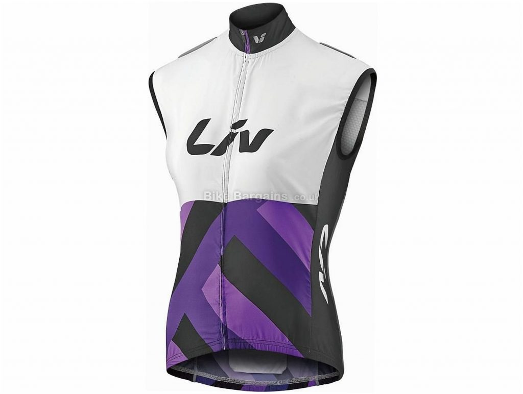 Giant Liv Race Day Ladies Gilet XXL,XXXL, White, Purple