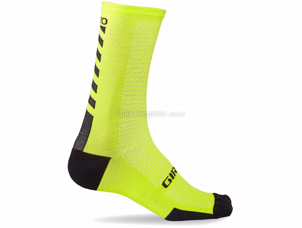 Giro HRC Merino Wool Socks M, Yellow, Black