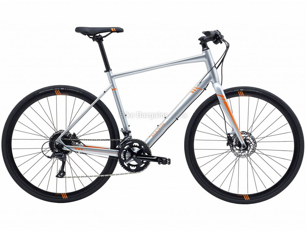 Marin Fairfax SC4 Alloy Disc Road Bike 2018 S, Silver, 18 Speed, Disc, Alloy