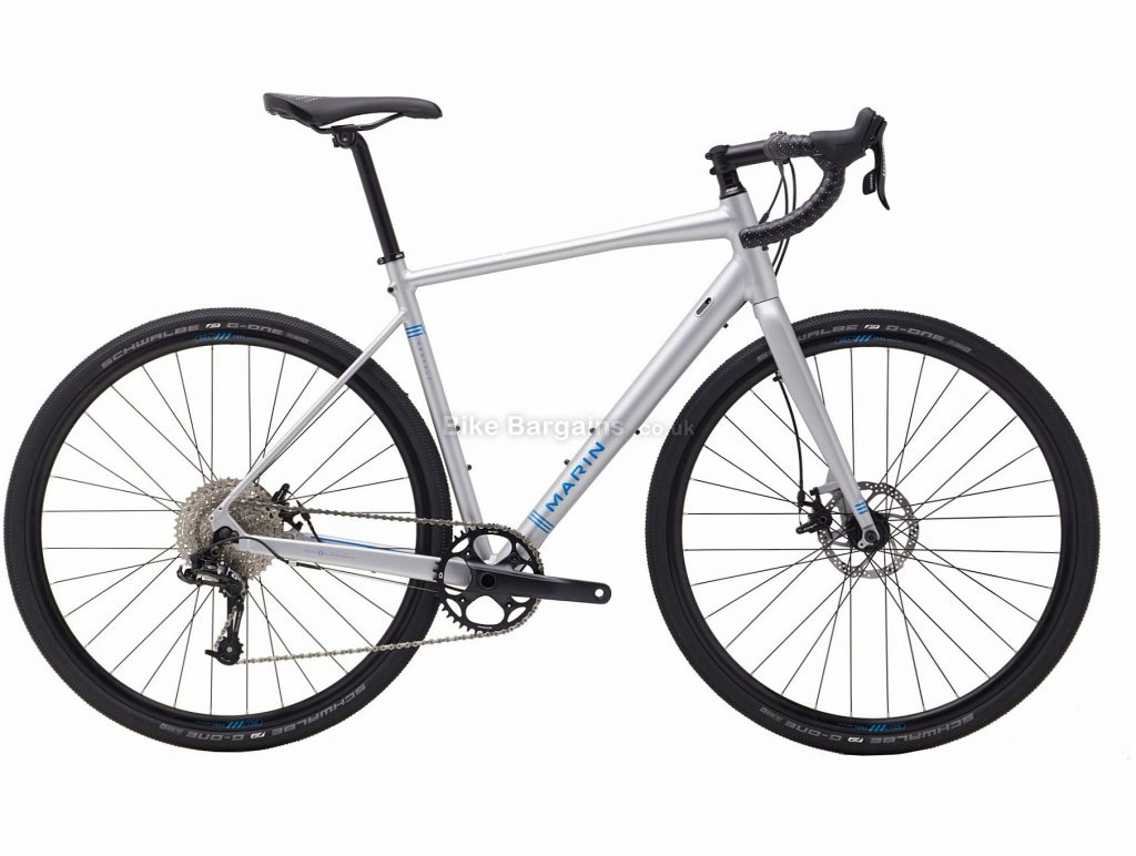 Marin Gestalt X10 Disc Alloy Gravel Bike 2018 56cm, Silver, 10 Speed, Disc, Alloy