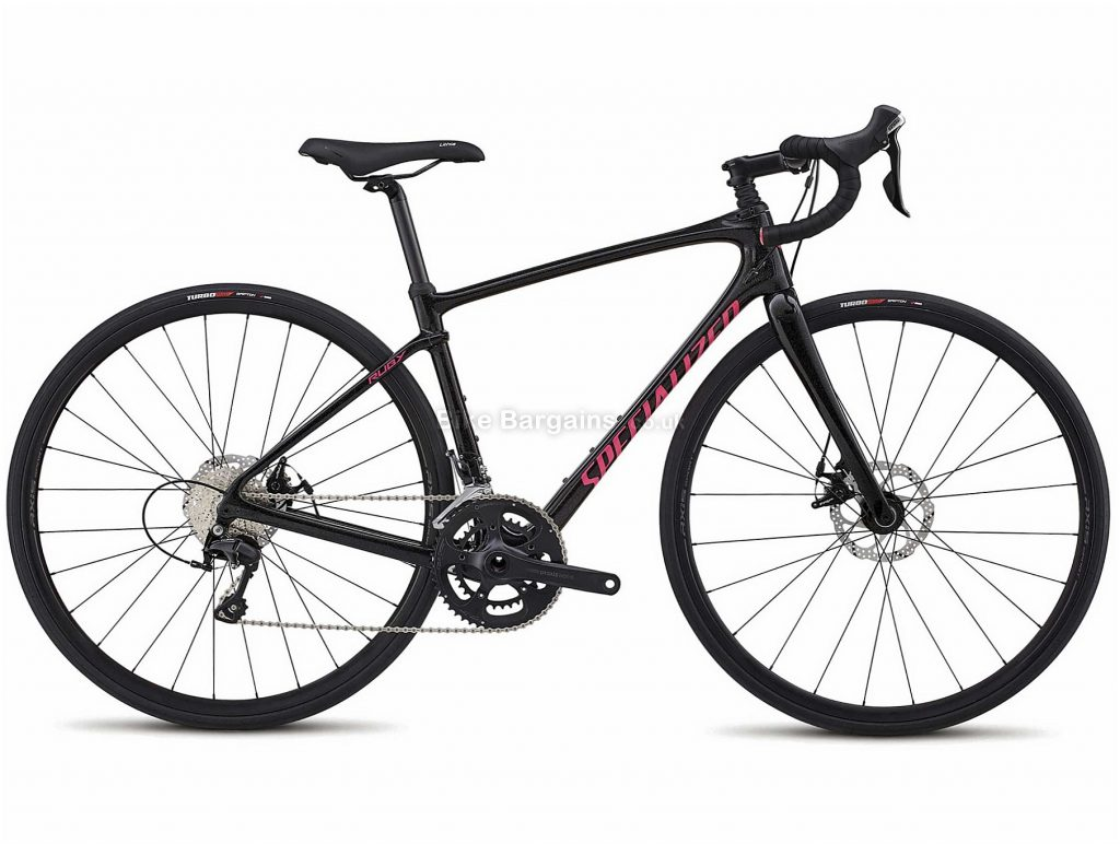 Specialized Ruby Sport Ladies Carbon Disc Road Bike 2018 51cm, Black, 22 Speed, Disc, Carbon