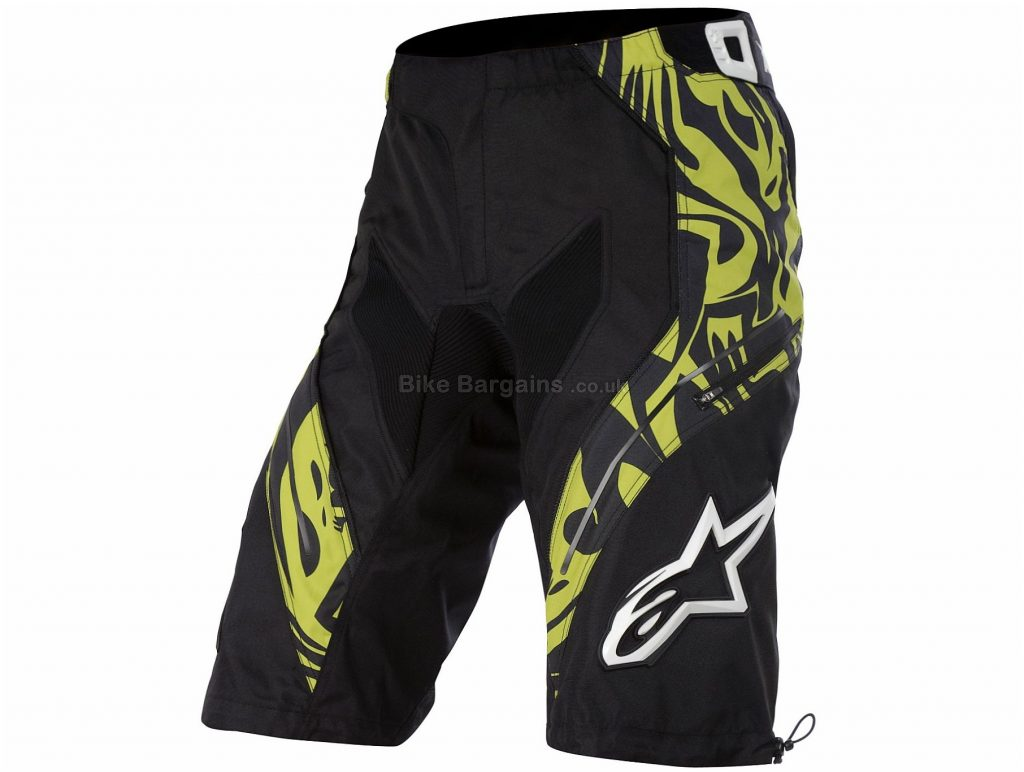 "Alpinestars Gravity Shorts 28"", Black, Yellow"