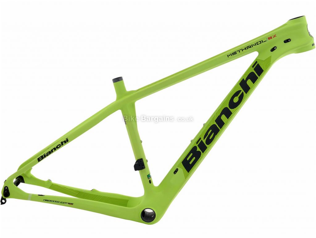 "Bianchi Methanol 29 SX Carbon Hardtail MTB Frame 2017 19"", Green, Carbon, 29"", 1.18kg, Disc"