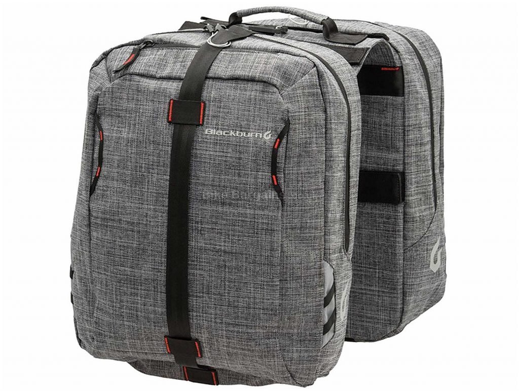 Blackburn Central Pannier Pair Saddle Bags Grey, 43 Litres
