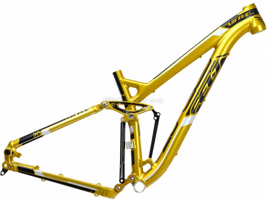 "Felt Virtue Nine 20 Alloy Full Suspension MTB Frame 2014 16"", Gold, Black, Alloy, 27.5"", Disc"