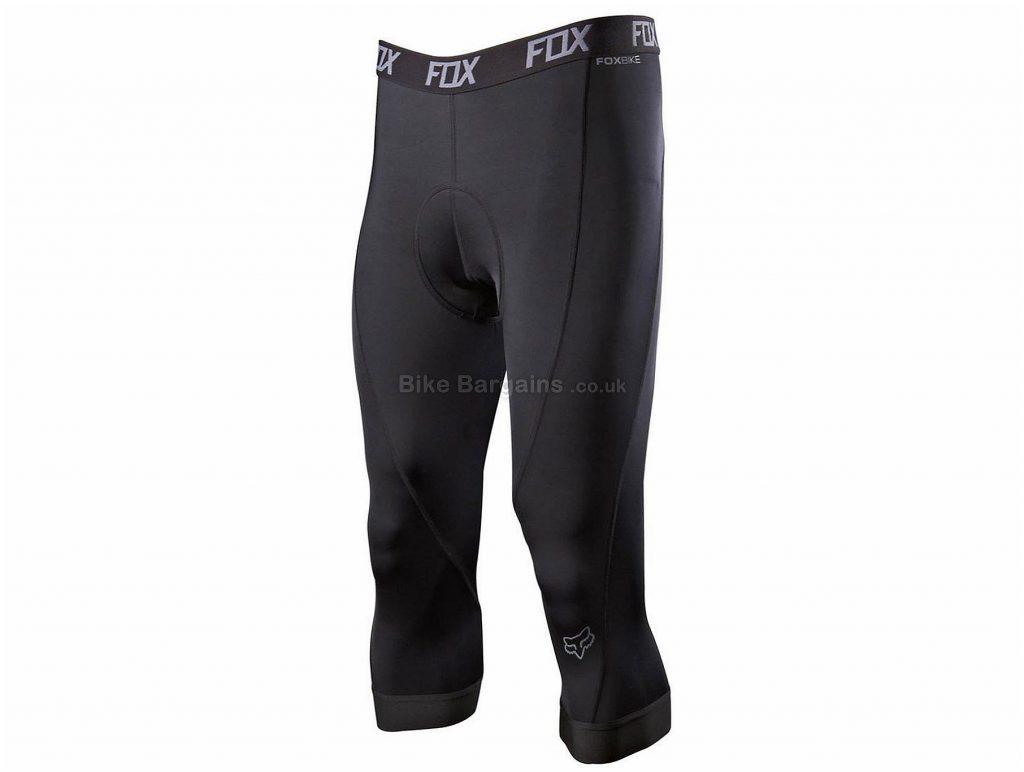 Fox Evolution 3/4 Liner Shorts S, Black