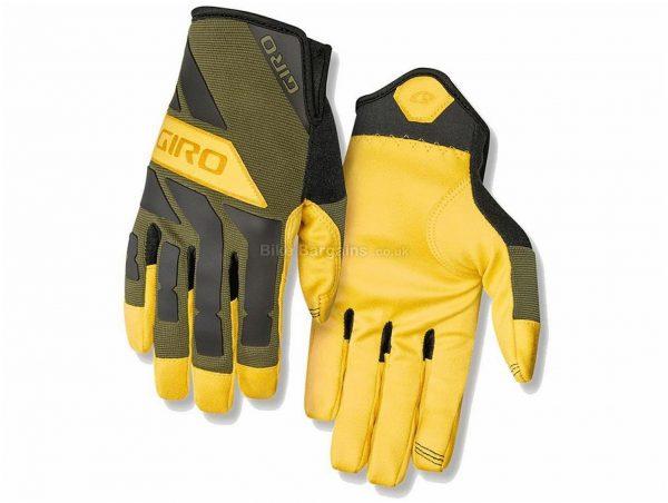 Giro Trail Builder Cycling Gloves M,XL, Yellow, Black, Full Finger