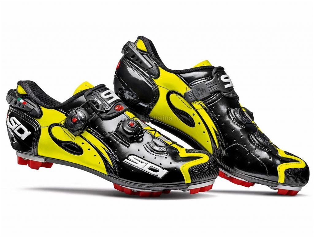 Sidi Drako Carbon SRS MTB Shoes 40, Black, Yellow, Boa