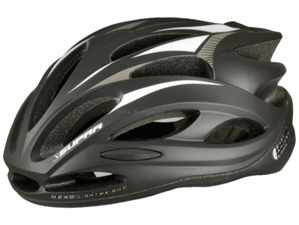 Supra H280 Road Helmet L, Black, 280g, 19 vents